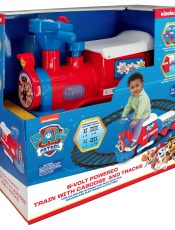 PAW Patrol 6-V Powered ride-on Train with Tracks and a Caboose Video!